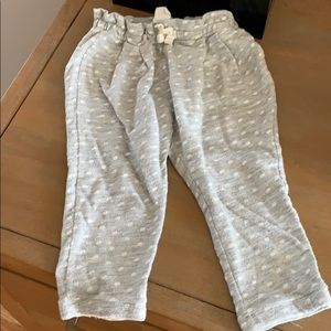 Baby gap sweatpants 12-18 month gray and white